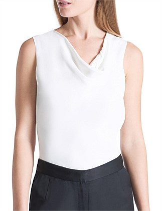 S/LESS DRAPED COWL TOP