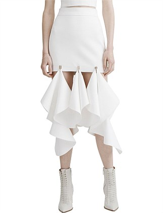 Suspended Hook Mini Skirt