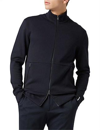 Zip-Through Sweatshirt In A Double-Face Cotton Blend