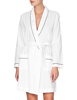941b8bab27 Cotton Robe With Contrast Piping ...