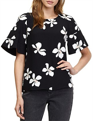 Hibiscus Floral Top