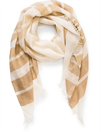 ALTERNATED STRIPES SCARF