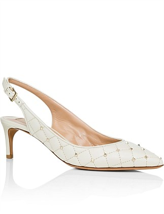 SPIKE SLING BACK PUMPS
