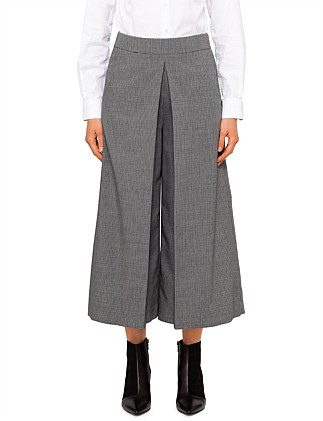 High Waisted Cropped Trouser With Fold Front Detail