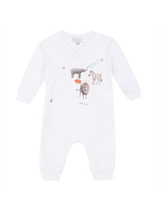 ANIMAL PLACEMENT ROMPER(3-9 MONTHS)