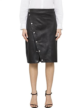 BAHA LEATHER SKIRT