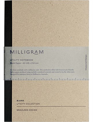 Utility Notebook - Blank - A5 - Black