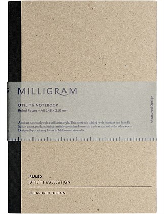 Utility Notebook - Ruled - A5 - Black