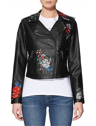 Ls Embroidered Moto Jacket