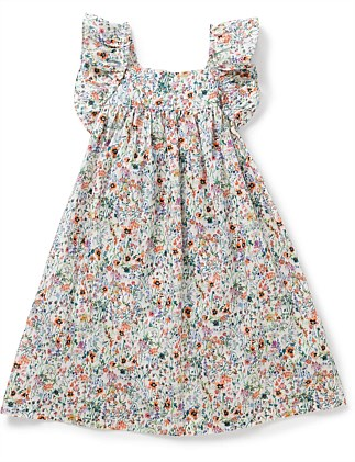 GIRL PRINTED DRESS WITH AILETTE (4-6 Years)