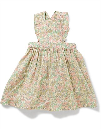 GIRL APRON PRINTED DRESS(3-6 Years)