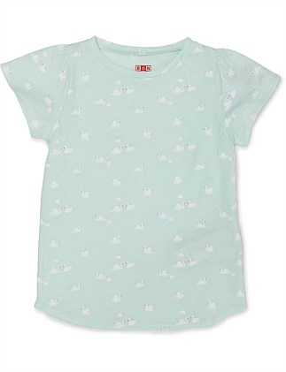GIRL AILETTE T SHIRT SWAN(3-6 Years)