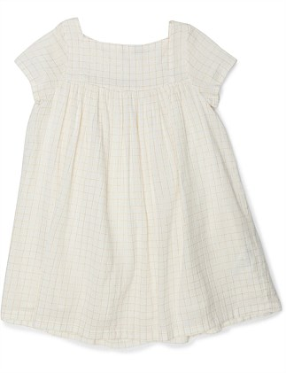 GIRL DRESS GOLDEN LUREX(6-8 Years)