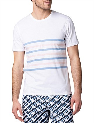 Double Collared Stripe T-Shirt