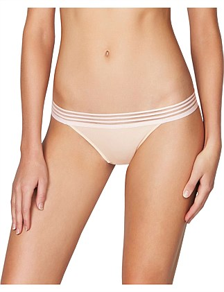 Stripe Elastic & Papertouch Cheeky Pant Brief
