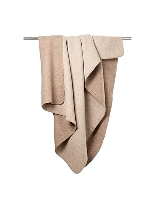 Merino Super Soft Throw Dark Brown