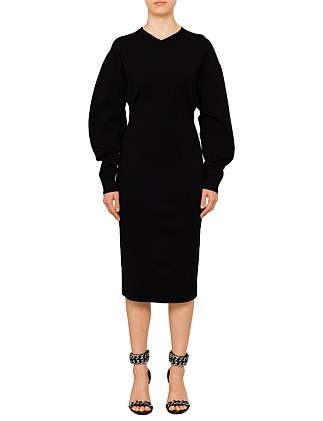 Clean Shapes Long sleeve knit Dress