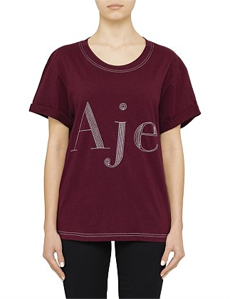 Aje Tee with black stitching