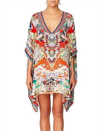 Geisha girl Rectangular V-Neck Kaftan