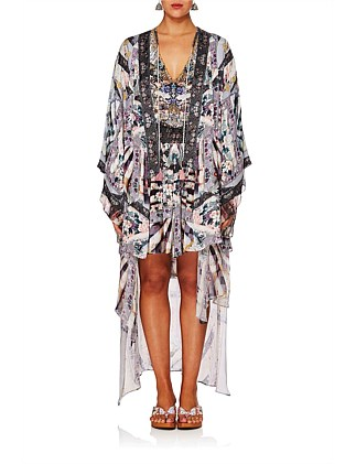 In Her Shoes Kimono W/ Long Underlayer