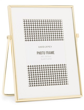 Easel 4X6 Brass Plated Metal Photo Frame