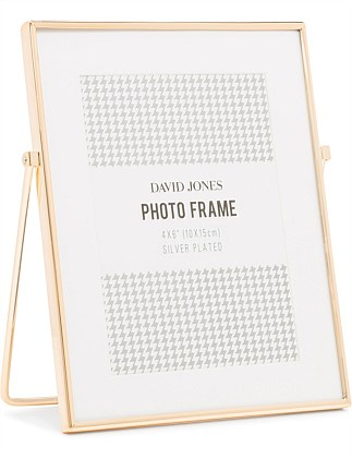 Easel 4X6 Rose Gold Finish Metal Photo Frame