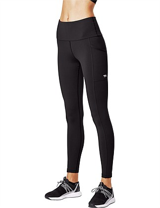 "Ab Waisted ""Power Moves"" Full Length Tight With Side Pockets"