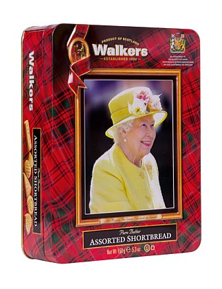 Assorted Shortbread in Queens Royal Tin 150G