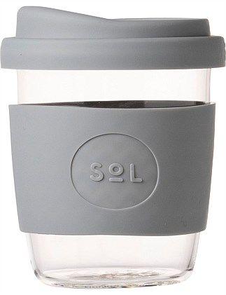 SOL CUPS 235ML GLASS CUP COOL GREY