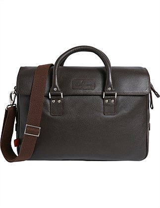Lewes leather work bag