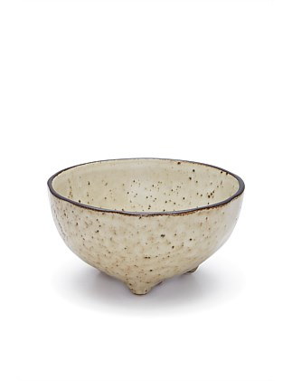 S&P NOMAD BOWL FOOTED NATURAL  11X5.5CM