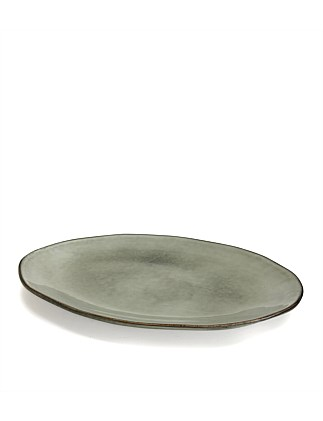 S&P NOMAD PLATTER OVAL GREY 41X28CM