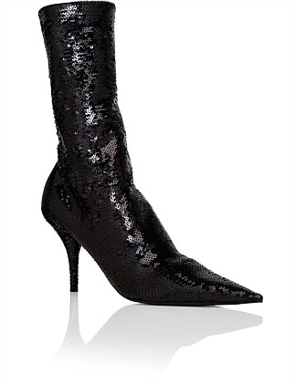 KNIFE SEQUIN BOOTIE 80