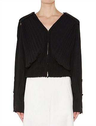 ACCORDIAN PLEATED SHIRT