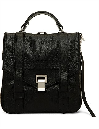 LEATHER ZIP BACKPACK