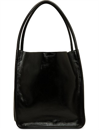 LEATHER L TOTE BAG