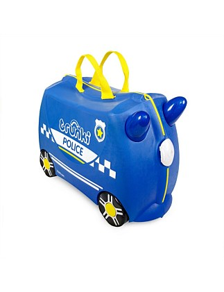 Trunki Percy Police Car Ride on Suitcase