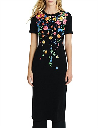 Tess Embroidered Flower dress