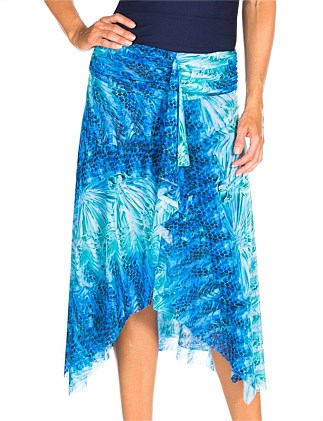 Water Jewel Frill Skirt Mesh