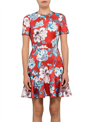 Dhalia Flip Mini Scuba Shortsleeve Dress