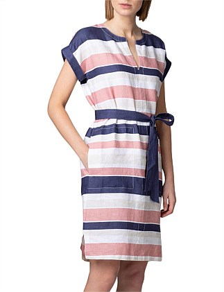 Linen Awning Stripe Dress