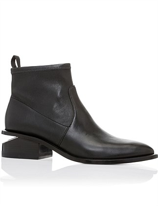 KORI STRETCH BOOTIE BLACK LEATHER