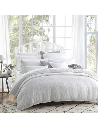 ETOILE WHITE QUILT COVER SET SUPER KING BED