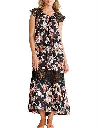 Hawaiian Bloom Lace Dress