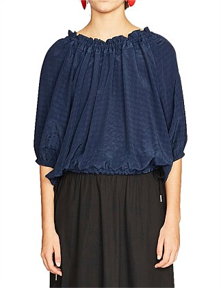 Cooper Checked Puff Sleeve Top