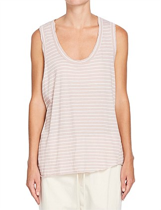Stripe Detailed T.Back Tank