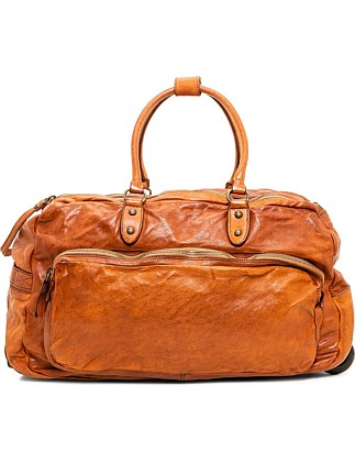Trolley Leather Duffle Bag