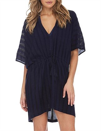 Aloha Resort  Stripe  Mesh Kaftan