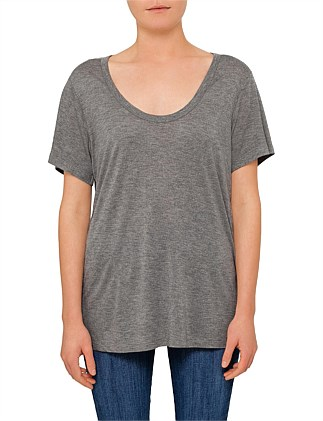 Classic Cropped Tee With Chest Pocket