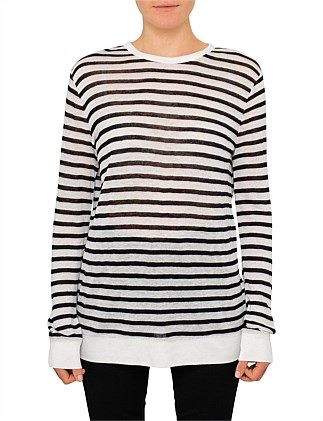 2e3ea52f6869 Longsleeve Striped Crew Neck Tee Special Offer. T by Alexander Wang